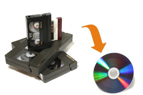 Riversamento VHS, 8mm, Mini DV, su DVD